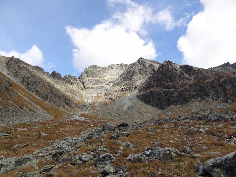 Widok w kierunku lodowej przełęczy